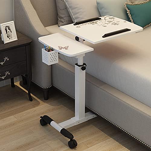 N / B Mesa de Laptop en la Cama, Mesa de pie, Escritorio de Altura Ajustable con Ruedas para sofá, Cama, Silla, Lado, hogar, Aula de Oficina