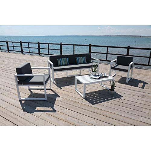 Salon de jardin en aluminium 5 places Muna