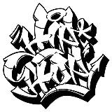 dekodino Wandtattoo Graffiti Hip Hop Schriftzug schwarz weiß Wandsticker Deko