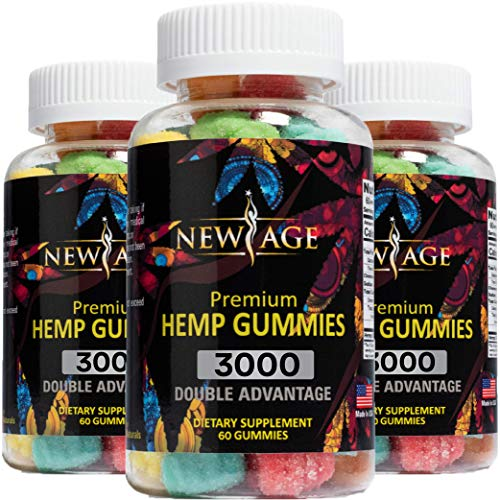 New Age Naturals Advanced Hemp Big Gummies 3000 180ct - 3 Pack - Natural Hemp Oil Infused Gummies