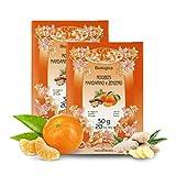 Infusión Bio de Rooibos sudafricano con Mandarina y Jengibre - 20 bolsitas - Total 30 Gramos (Paquete de 2 Piezas)