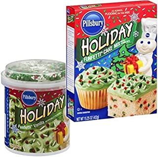 Pillsbury Holiday Funfetti Cake Mix and Icing Combo: Everything You Need to Make One Complete Christmas or Holiday Cake by...