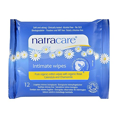Natracare Organic Cotton Intimate Wipes 12 Per Pack