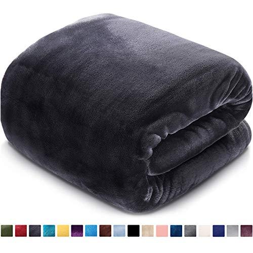 Fleece Blanket Queen Size Fuzzy Soft Plush Blanket 330GSM for All Season Spring Summer Autumn Throws...