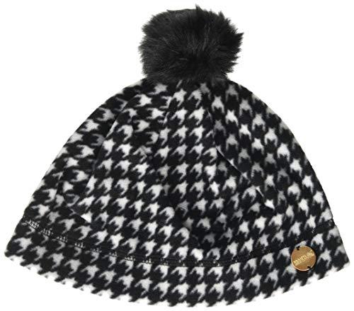 Regatta Azni' Knitted Pom Microfleece Hat Couvre-Chef Femme, Dent-de-Poule/Noir, L-XL