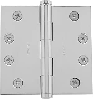 Baldwin 1040260I Square Mortise Hinge, Bright Chrome
