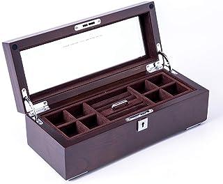 FGDSA Caja de joyería Simple Cubierta de Vidrio Anillos Pendientes Pendientes de botón Soporte de exhibición de joyería Or...