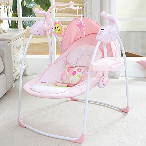 Swing-N-Rocker, New-Born Baby Swing Chair and Bouncer with Songs and Sounds, Suitable from Birth/Powder