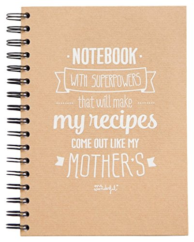 Mr; Wonderful Woa03200 Libro Notebook With Superpowers That Will Make My Recipes Come Out Like My Mother'S