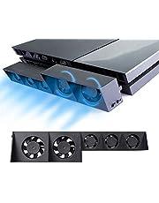 ElecGear PS4 Refrigerador Ventilador de Refrigeración, Control Automático del Sensor de Temperatura Turbo USB Cooling Fan Cooler para PlayStation 4 CUH-1xxx