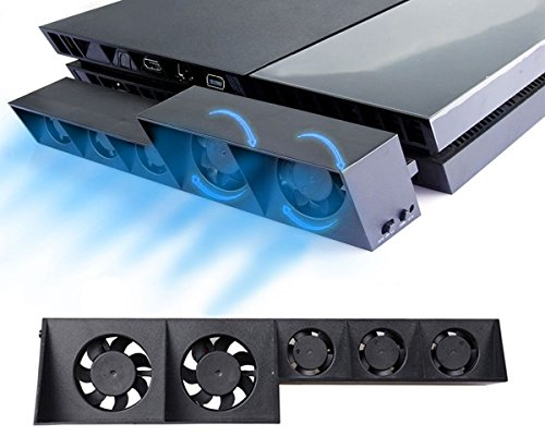 ElecGear PS4 Turbo Lüfter Ventilator Kühler, Externe Kühlgebläse USB Cooling Fan Cooler Auto Luftzirkulation Kühlung Temperatur Schutz Kühlventilator für PlayStation 4 CUH-1xxx