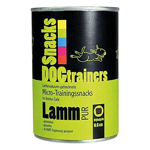 Friandises Dogtrainers - Agneau pur lyophilisé - Petites friandises à base de viande pure pour le dressage de chien et en guise de récompense délicieuse