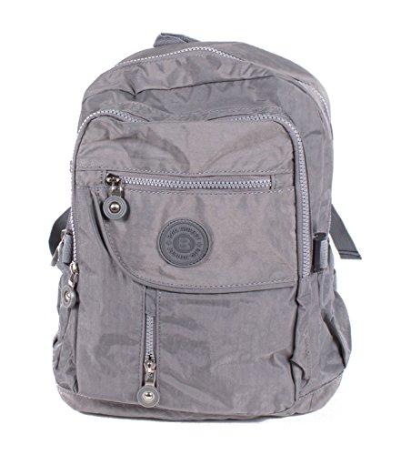 Bag Street Nylon Rucksack Cityrucksack Bag Wanderrucksack Backpack grau