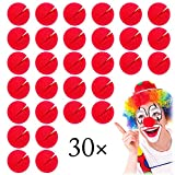 Xinlie 30 Stück Clown-Nase Schaumstoff Rot Red Nose Day Party Rote Clownnase Rot Clownsnasen...