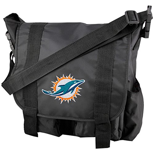 NFL Miami Dolphins Team Logo Diaper Bag with Changing Pad