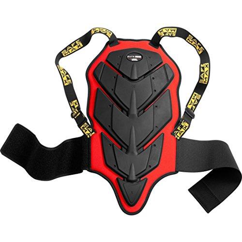 Safe Max® Rückenprotektor Motorrad Herren und Damen Kinder Umschnall-Rückenprotektor 1.0, Schutzklasse 1 rot XS, Multipurpose, Ganzjährig, Kunststoff