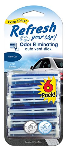 american covers inc 09413t Refresh, 6 Pack, New Car Cool Breeze, Vent Stick