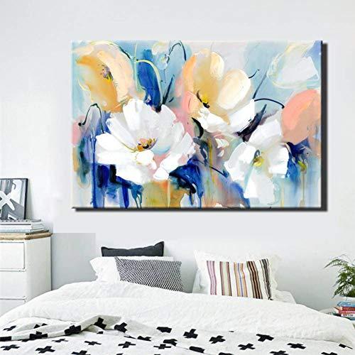 AJKCBAQ moderne aquarel bloemen muur hand beschilderd papaver bloemen afdrukken op canvas muur foto voor woonkamer huisdecoratie cadeau