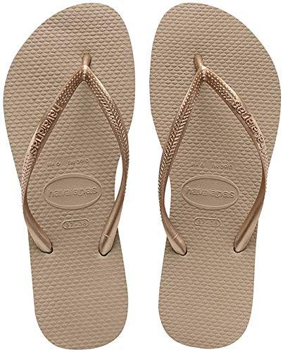 Havaianas Damen Slim Flip Flop, Rose Gold, Schuhgröße EU 41/42, Brazilian 39/40, USA 9/10 W
