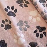 Stoff Meterware Wellness rosa grau NEU Tatzen Pfoten Hund