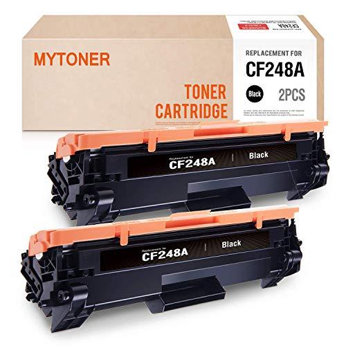 MYTONER Compatible Toner Cartridge Replacement for HP 48A CF248A M15w M29w M31w Printer Ink(Black, 2-Pack)