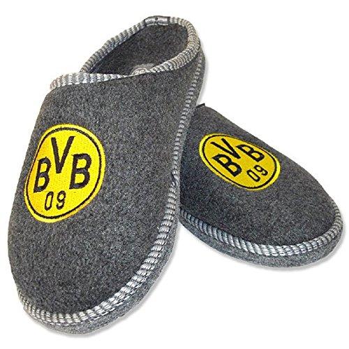 BVB 09 Borussia Dortmund Filzpantoffeln Gr. 42/43 Hausschuhe Pantoffeln 15987909
