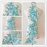 Parche de encaje 3D con diseño de flores, ideal para manualidades, costura, disfraz de no...