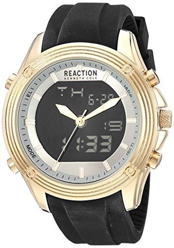 Kenneth Cole Reaction Ana-Digital - Reloj de Cuarzo para Hombre (Metal y Silicona), Color Negro (Modelo: RK50524002)