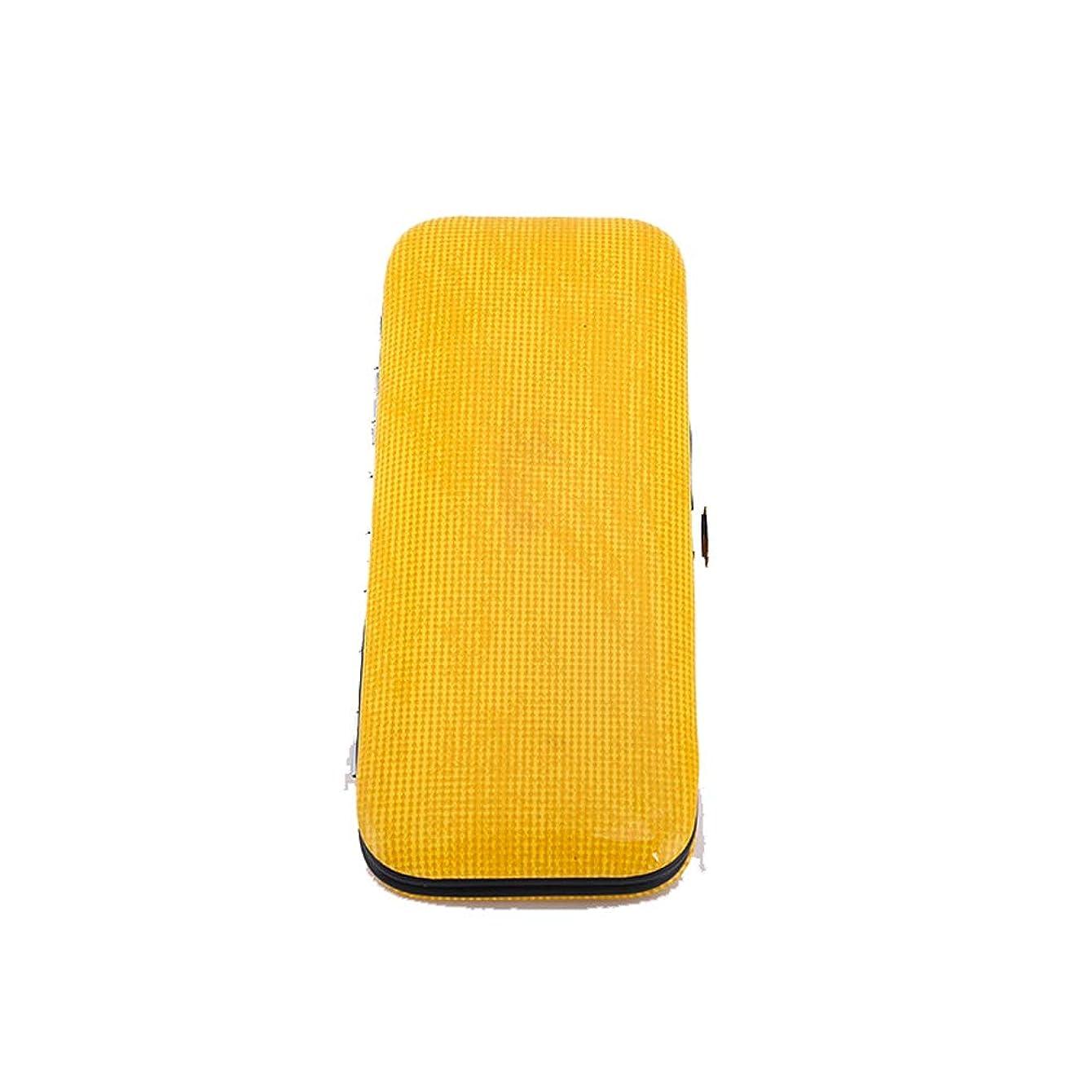 残高懐キー便利な爪切り ステンレススチールネイルクリッパーセットネイルクリッパーセット8個セット美容ネイルツールセット ネイルドレッシングツール (色 : 黄)