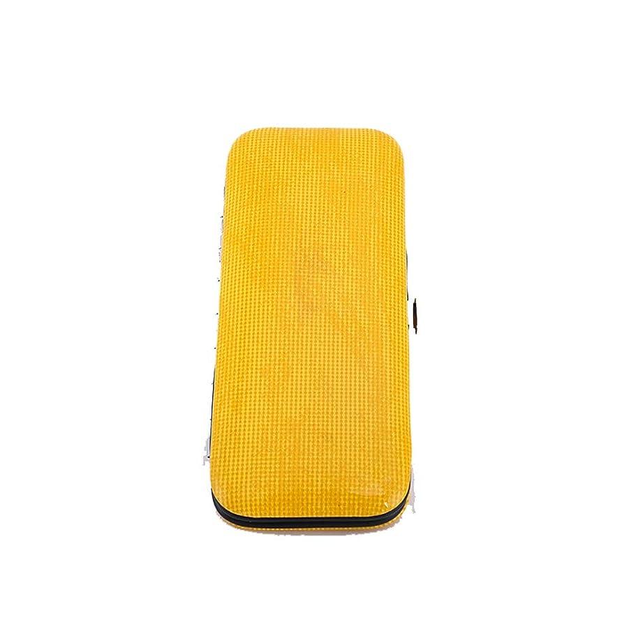 くちばし援助宇宙船便利な爪切り ステンレススチールネイルクリッパーセットネイルクリッパーセット8個セット美容ネイルツールセット ネイルドレッシングツール (色 : 黄)
