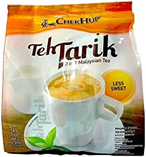 Malaysia Famous Chek Hup/Teh Tarik 3 In 1 Instant Mix/Delicate Blend of Black Tea & Non Dairy Creamer, With Less Sugar/Authentic Classic Taste, Lightly Sweetened / 15s x 40g/pack