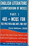 ENGLISH LITERATURE: (Compendium of MCQs) (PART Book 1)