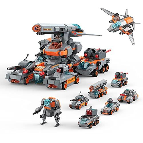 Henoda Bausteine Spielzeug ab 5 6 7 8 9 10 11 12 Jahren für Jungen und Mädchen, Konstruktionsspielzeug 8-in-1 STEM Lernspielzeug Pädagogisches Bauspielzeug, Geschenke für Kinder Jung 6+ Jahre(699pcs)