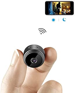 ALILJJ Spy Camera, 1080P HD WiFi Hidden Camera Spy Cam, Small Wireless Home Security Surveillance Cameras with Night Visio...