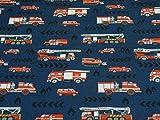 Rammelkamp Baumwolljersey Feuerwehrautos, Ökotex100,