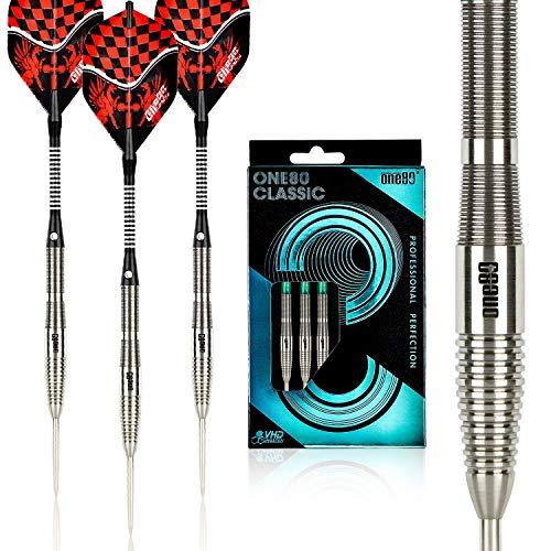 ONE80 90% Tungsten Professional Steel Tip Darts Set with Gift Box (C-22g)
