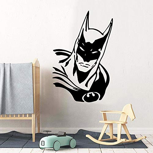 Tianpengyuanshuai Mode Fledermaus Wandaufkleber Vinyl wasserdichte Wanddekoration Junge Schlafzimmer Kinderzimmer Dekoration Aufkleber Wandbild 64X63cm