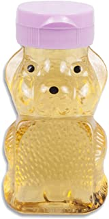 Farmstand Supply RetroPak PB06W24RP 24 Count Plastic Panel Honey Bear with Pink Caps, 6-Ounce