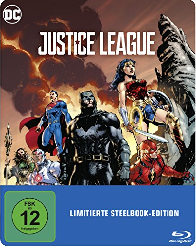 Justice League als Steelbook mit Illustrated Artwork (exklusiv bei Amazon.de) [Blu-ray] [Limited Edition]