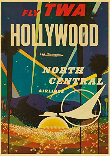 WDQFANGYI Cartel De Viaje Retro Hollywoodcuba Cartel De Viaje Retro Lienzo Decorativo Pintura Hogar Bar Decoración 50X70Cm (FLL5236)