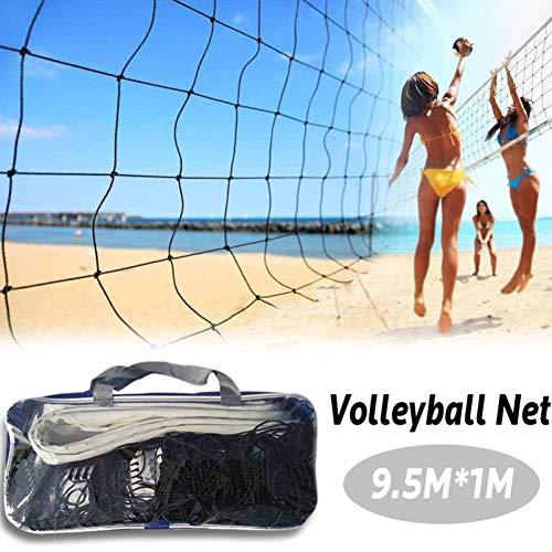 housesweet Red de Voleibol de Playa de 9,5 x 1 m, Material de Polietileno portátil, Equipo de Entrenamiento para Interiores y Exteriores
