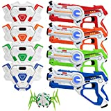 Kidzlane Laser tag Set – Lazer Tag Set of 4 with Vest and Laser Tag Spider Target – Laser Tag Game for Kids Boys Age 8+ - Indoor or Outdoor Fun Toy for Kids, Teens, Adults, and Family