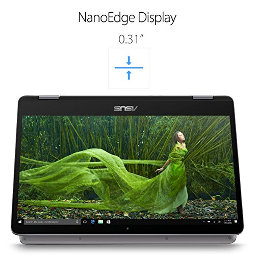 """ASUS VivoBook Flip 14 TP401CA-DHM6T 14"""" Thin and Lightweight 2-in-1 HD Touchscreen Laptop, Intel Core m3-7Y30 2.6GHz Processor, 4GB DDR4 RAM, 128GB EMMC Storage, Windows 10 Home"""