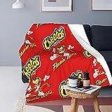 Boutique Throw Blanket -Cheetos Crunchy Flamin Hot Super Soft Fleece Throw Blankets,Fuzzy Plush Blanket Oversized,Thin Lightweight Blanket for All Season 50'x40' Child