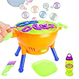 Slimefavors Machine, Automatic Bubble Maker Cartoon BBQ Over 2100 Bubbles Per Minute Bubble Blower Toy for Kids Boys Girls Easy to Use for Indoor Outdoor Party Wedding Baby Showers ( 2020 New Version)