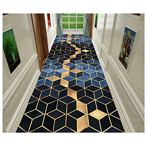 Long Floor Mat, Checkered Design, Area Rugs, Home Hallway Rugs, Hallway Doormat Entrance Door Mats Washable Runner Area Rugs for Living Room and Bedroom-120 × 640cm (3.9 × 21ft)