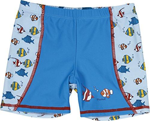 Playshoes Jungen UV-Schutz Shorts Fische hellblau Badeshorts, Blau (original 900), 122 (Herstellergröße: 122/128)