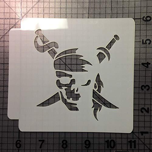 Pirate Skull Stencil 100 (5.5 Inches)
