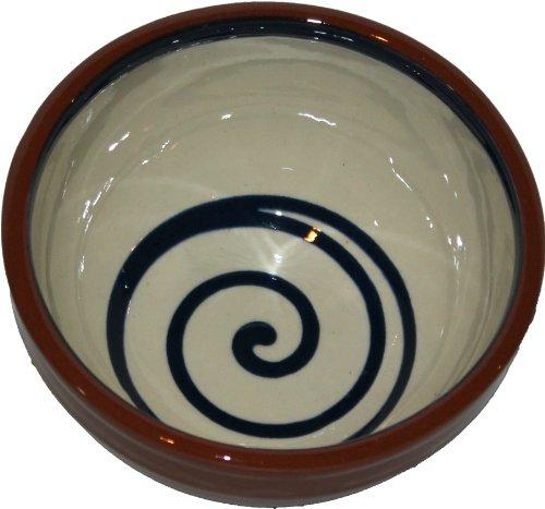 Amazing Cookware Bol Spirale à Dessert 13 cm, crème/Bleu