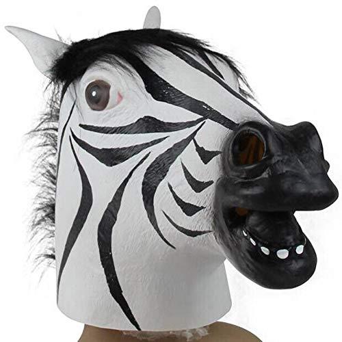 Latex paardenmasker, Halloween dierenmaskers Paardenmaskers Maskerade feestmasker Volwassenen Realistisch maskerade masker voor Halloween Party Bar